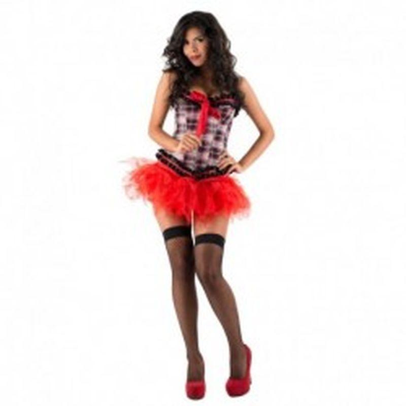 Disfraz Schoolgirl Melody Rojo
