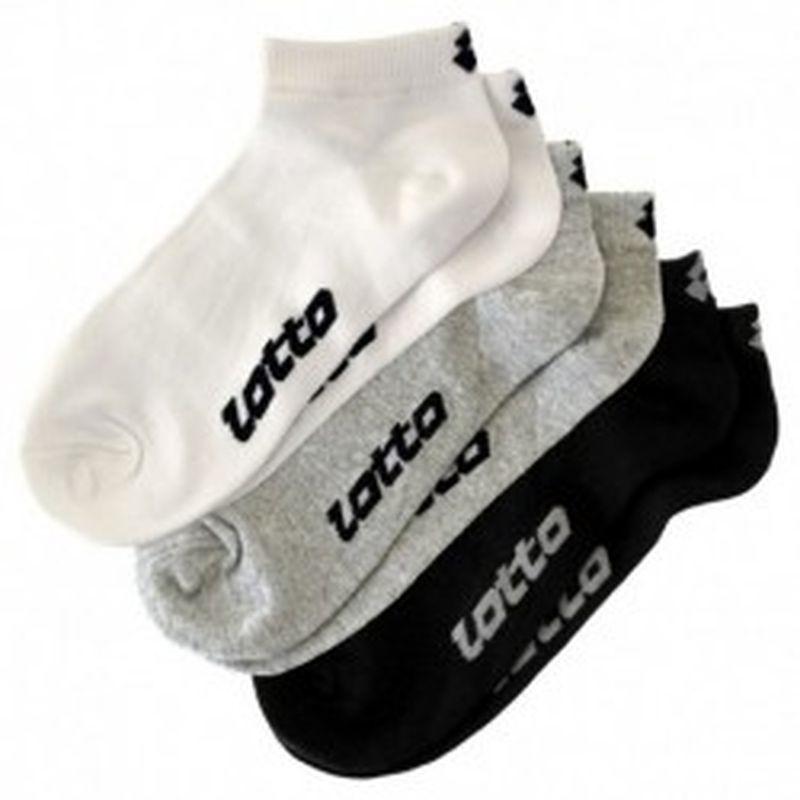 Set 9P calcetines LOTTO Negros Talla 39/42 - 92% poliamida - 8% elastano