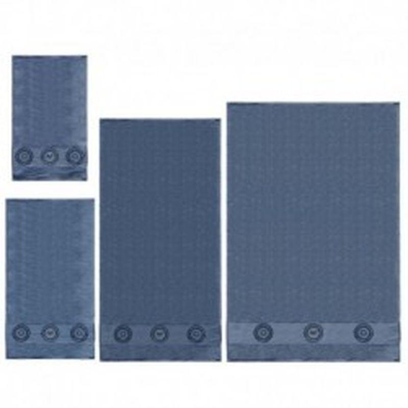 Set 4 toallas Versace 1969 Azul