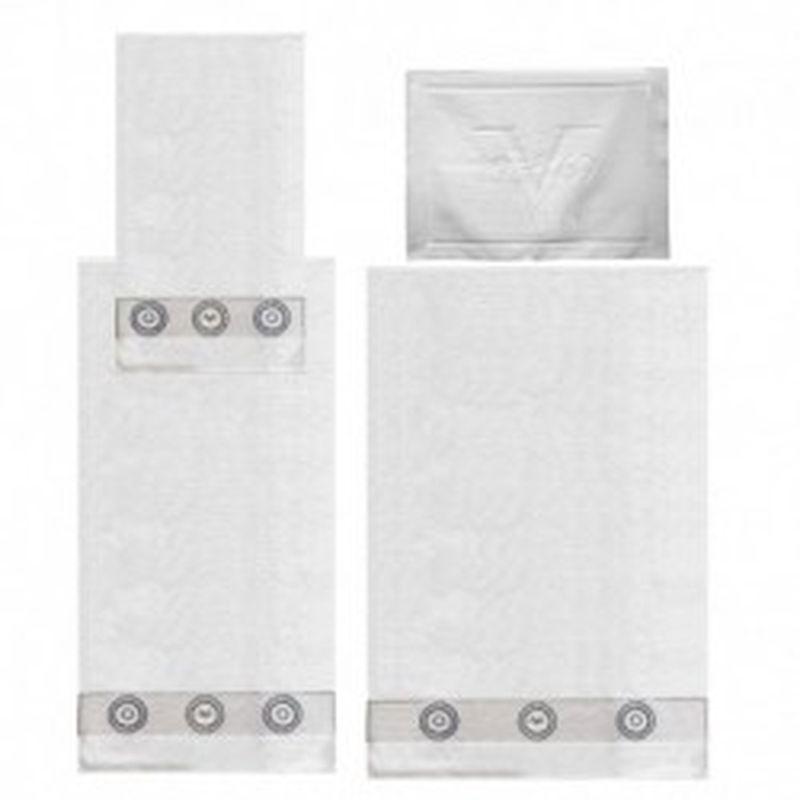 Set 3 toallas + alfombrilla Versace 1969 Blanco