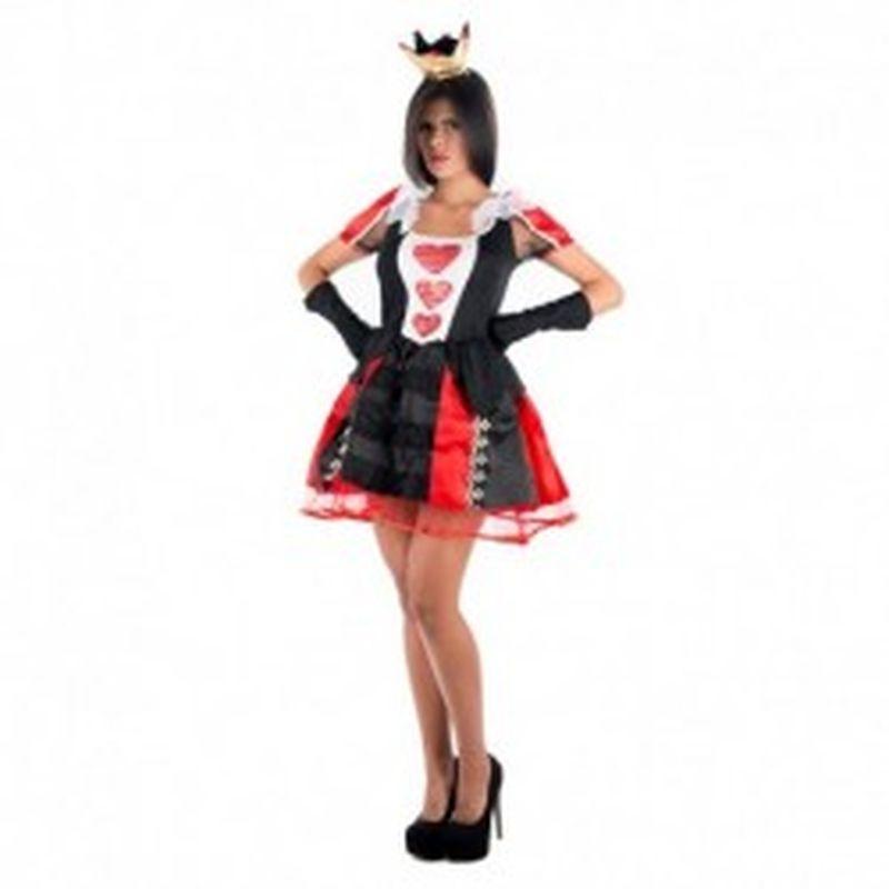 Disfraz Queen of hearts Negro