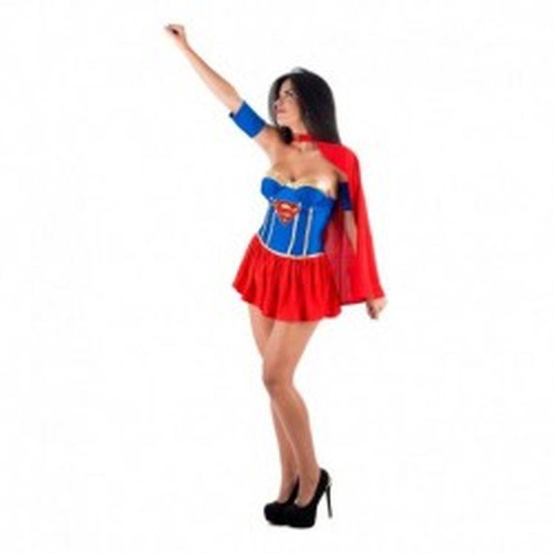 Disfraz Sexy Supergirl Rojo