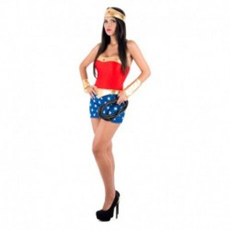 Disfraz Sexy capitán América Rojo