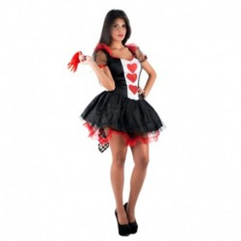 Disfraz Sexy reina de corazones Negro