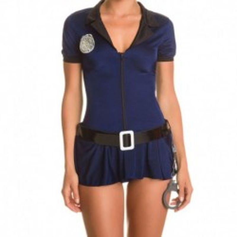 Disfraz Police Woman Azul