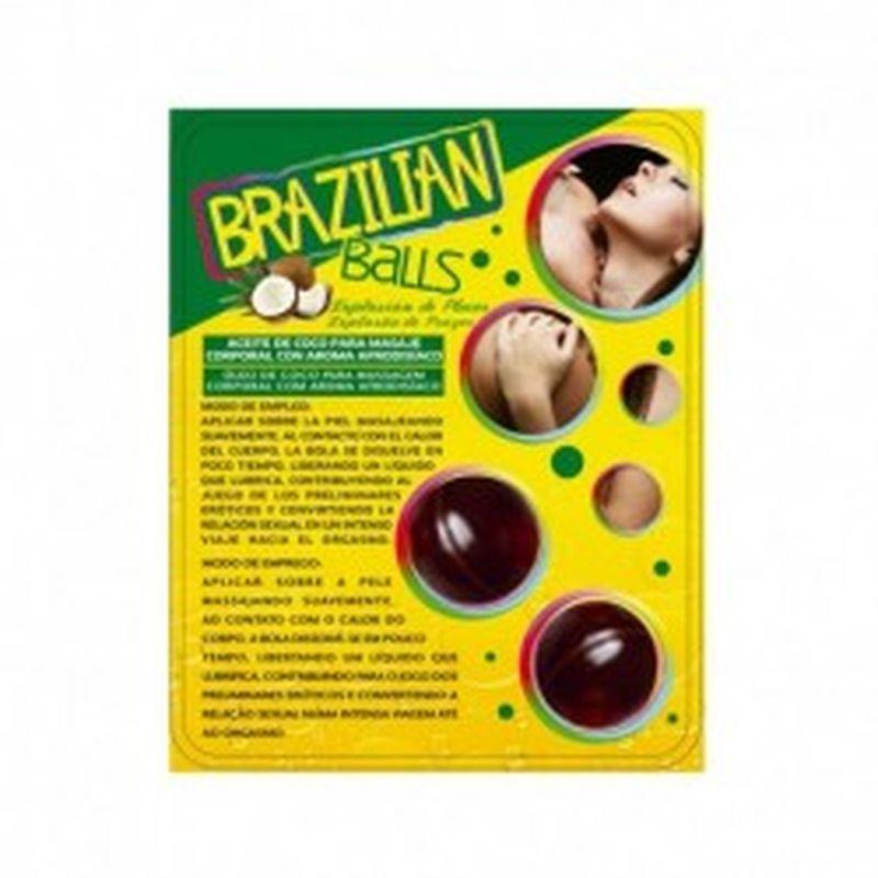 SET 2 BRAZILIAN BALLS CON AROMA DE FRUTAS - CHOCOLATE
