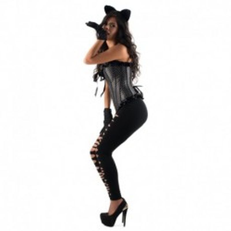 Disfraz Feline Debra Negro