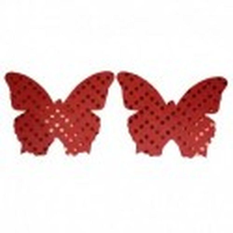 Pezoneras Bright butterfly Rojo