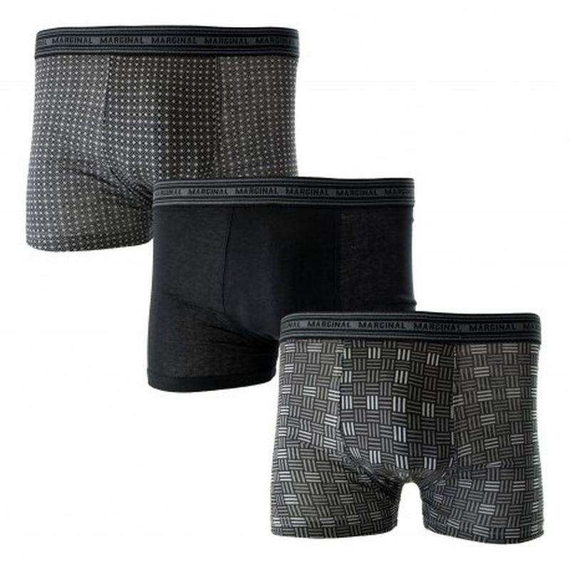 Set 3 Boxers MARGINAL Oscuros Talla L - 100% algodón