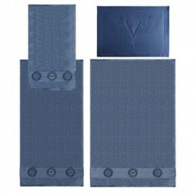 Set 3 toallas + alfombrilla Versace 1969 Azul
