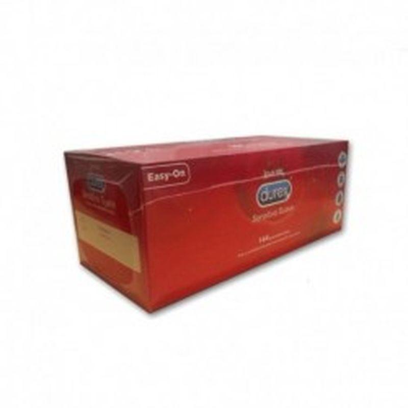 Preservativos DUREX - Sensitivo suave - caja gran formato 144 uds. - lisos, transparentes, lubricados y con depósito.