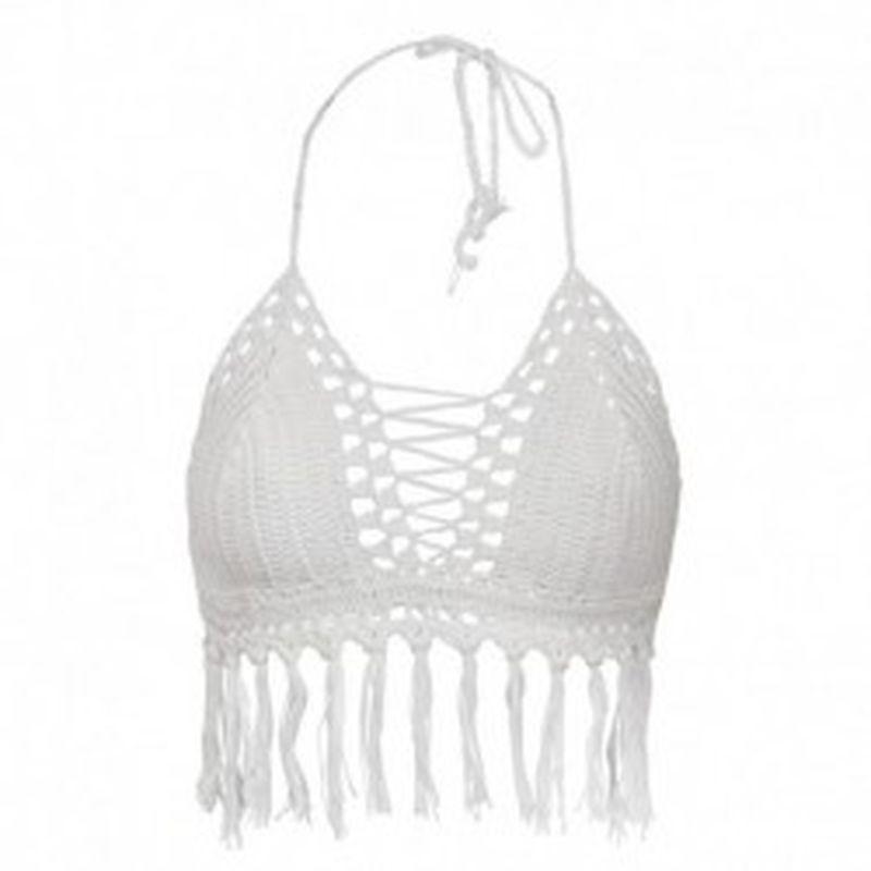Bikini WeaveFringe Blanco