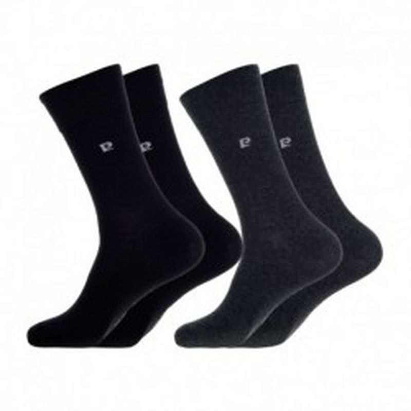 Set 10P calcetines PIERRE CARDIN - color: 5p negro + 5p gris antracita - talla 39/42