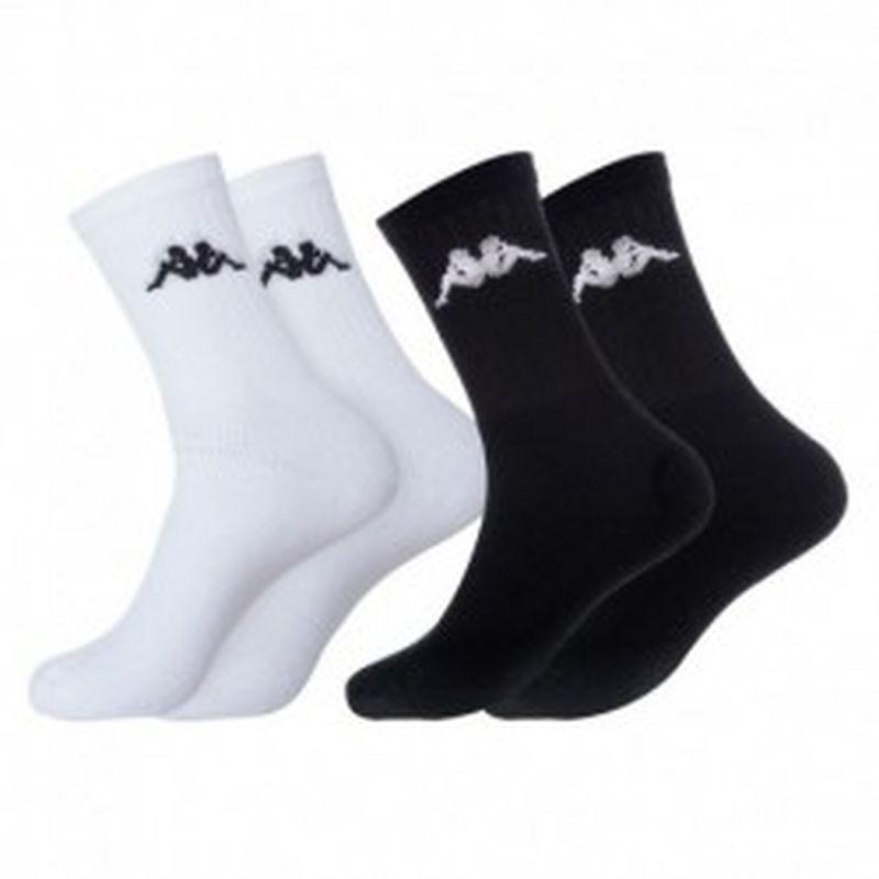 "Set 9P calcetines ""tenis"" KAPPA 6p blancos + 3p negros - talla 43/46"