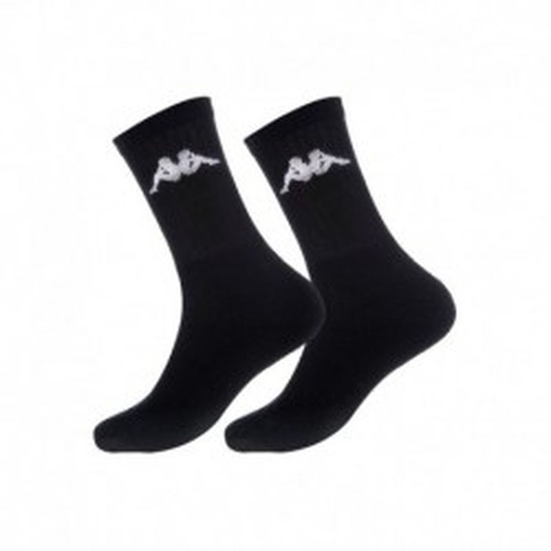 "Set 12P calcetines ""tenis"" KAPPA negros - talla 43/46"