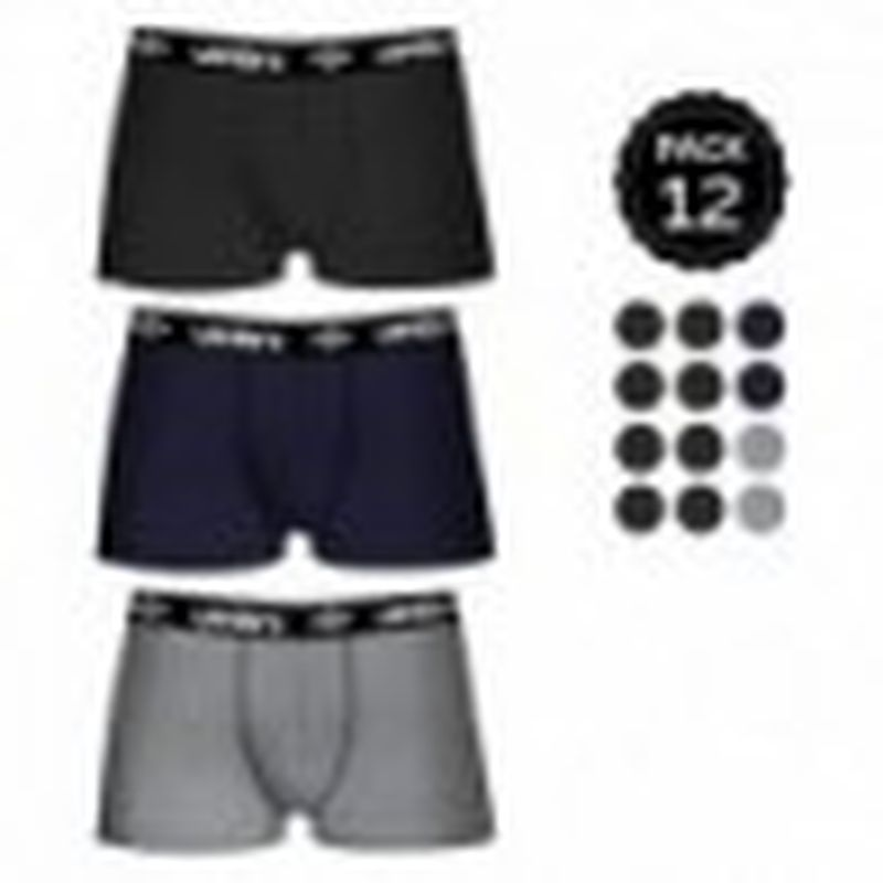 Set de 12 boxers UMBRO (12MULTICOLOR)  - color negro(8)/gris(2)/marino(2)