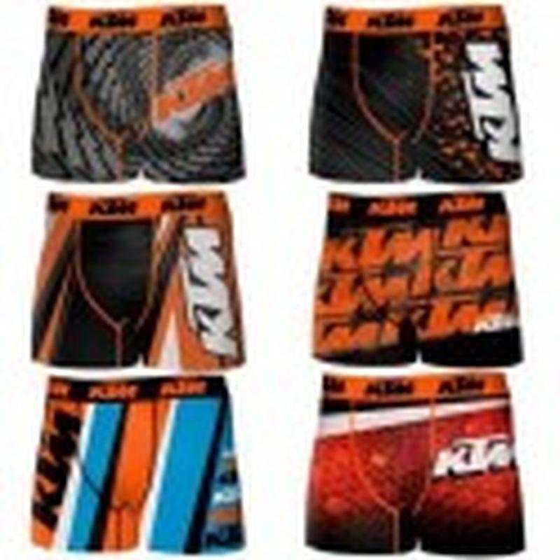 Set de 6 boxers KTM - microfibra - 92% poliéster 8% elastano