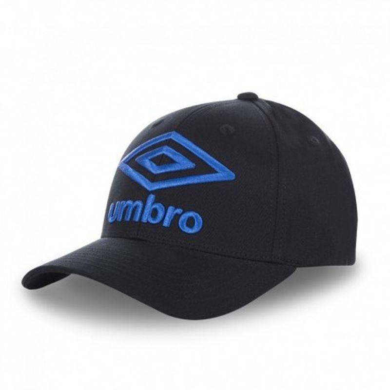 Gorra béisbol, negro+azul, 100% algodón, talla única