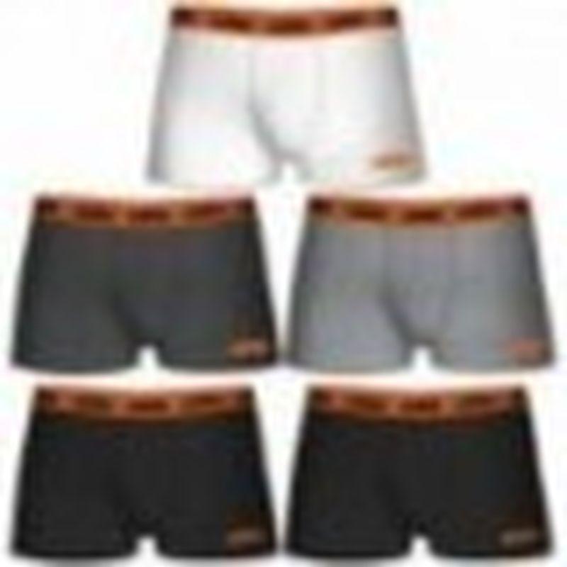 Boxer KTM - Set 5 boxer microfibra (60% poliéster - 35% algodón - 5% elastano) - multicolor con cintura naranja