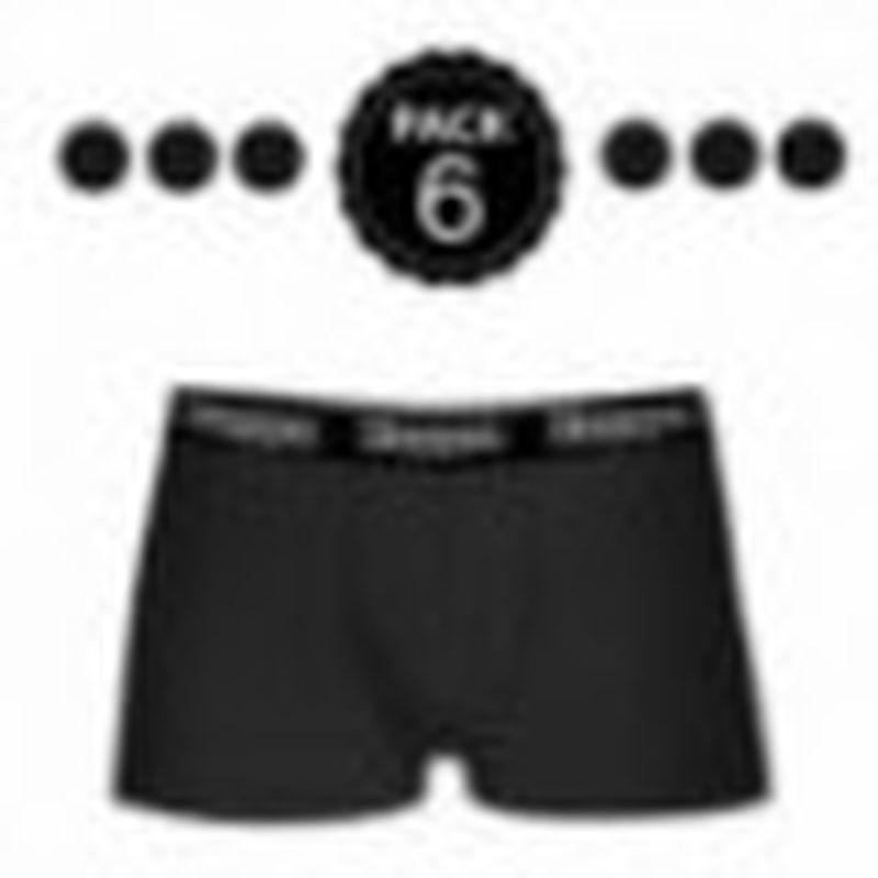Set 6 boxer Kappa NEGRO - 95% algodón - 5% elastano