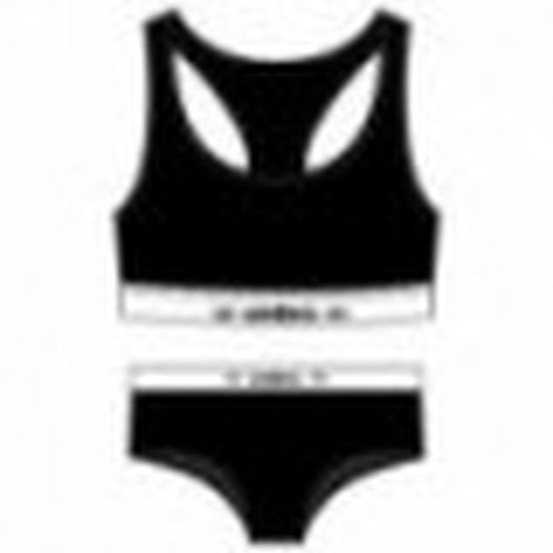 Set Sujetador negro UMBRO & Slip deportivo femenino negro UMBRO L