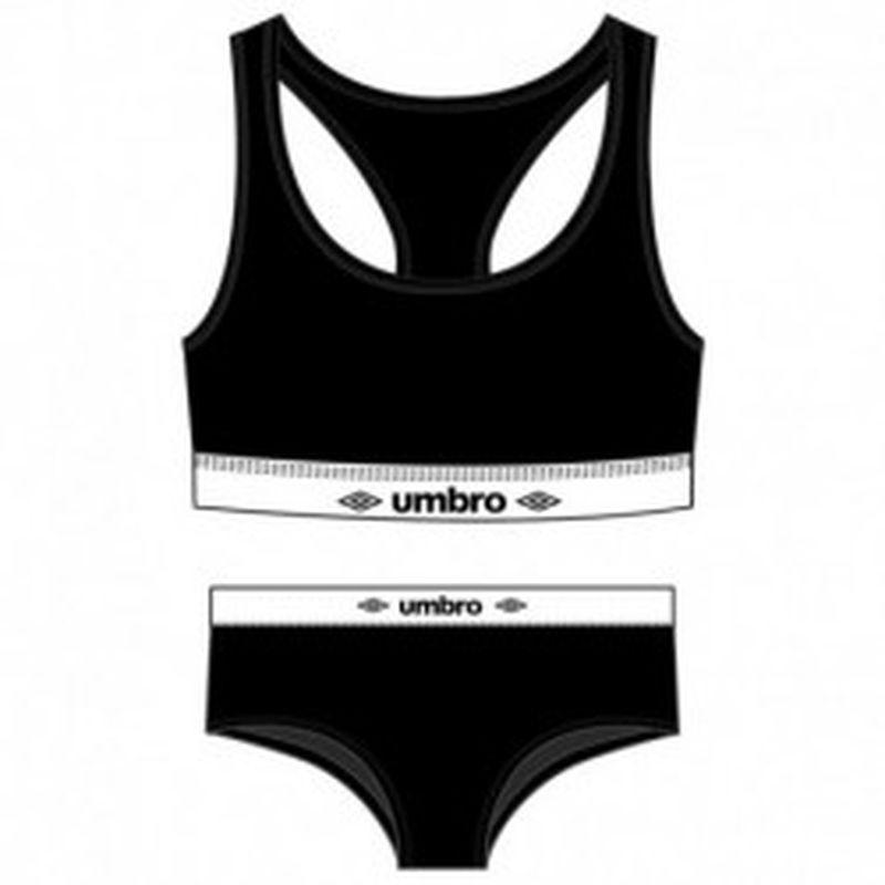 Set Sujetador negro UMBRO & Slip deportivo femenino negro UMBRO S