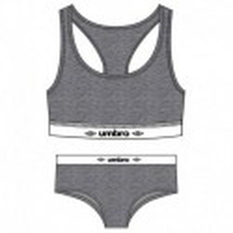 Set Sujetador gris UMBRO & Slip deportivo femenino gris UMBRO M