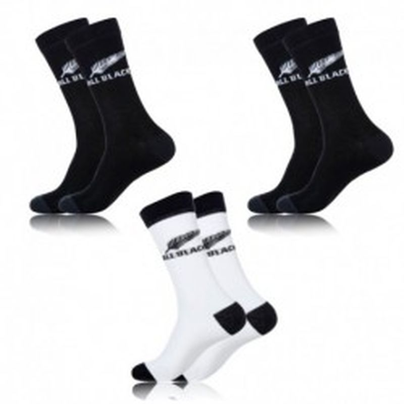 Set 3 pares de calcetines deportivos ALL BLACKS - 78% algodón