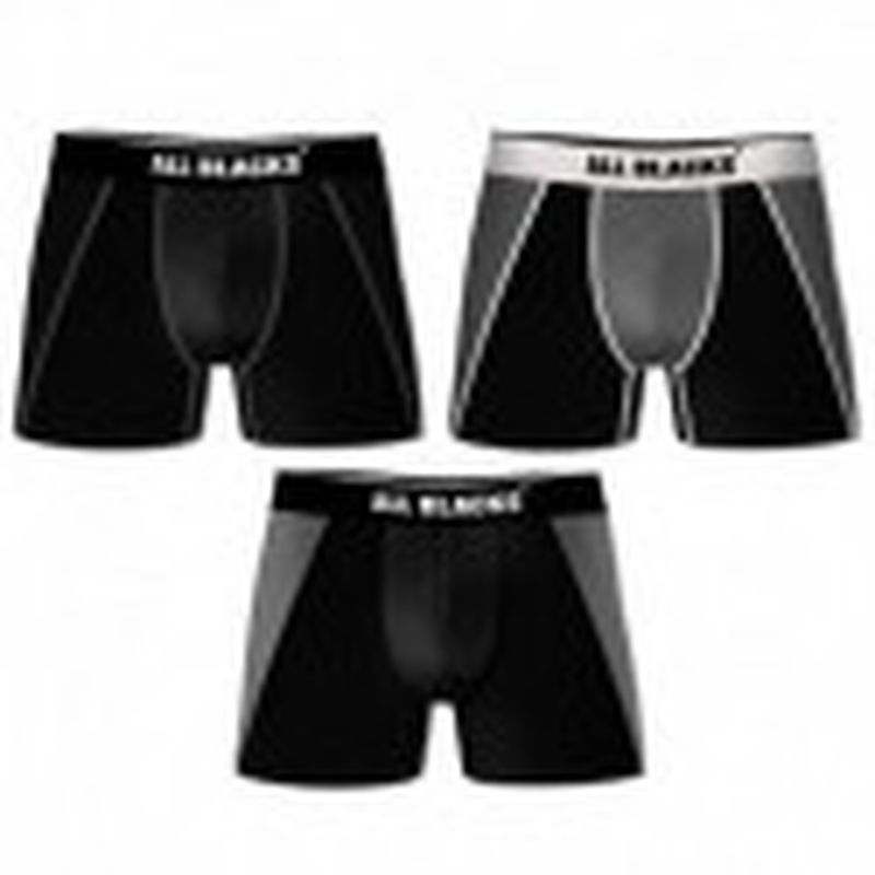 3XL Set 3 boxers ALL BLACKS- costuras en Negro/Gris/Blanco - 92% poliéster