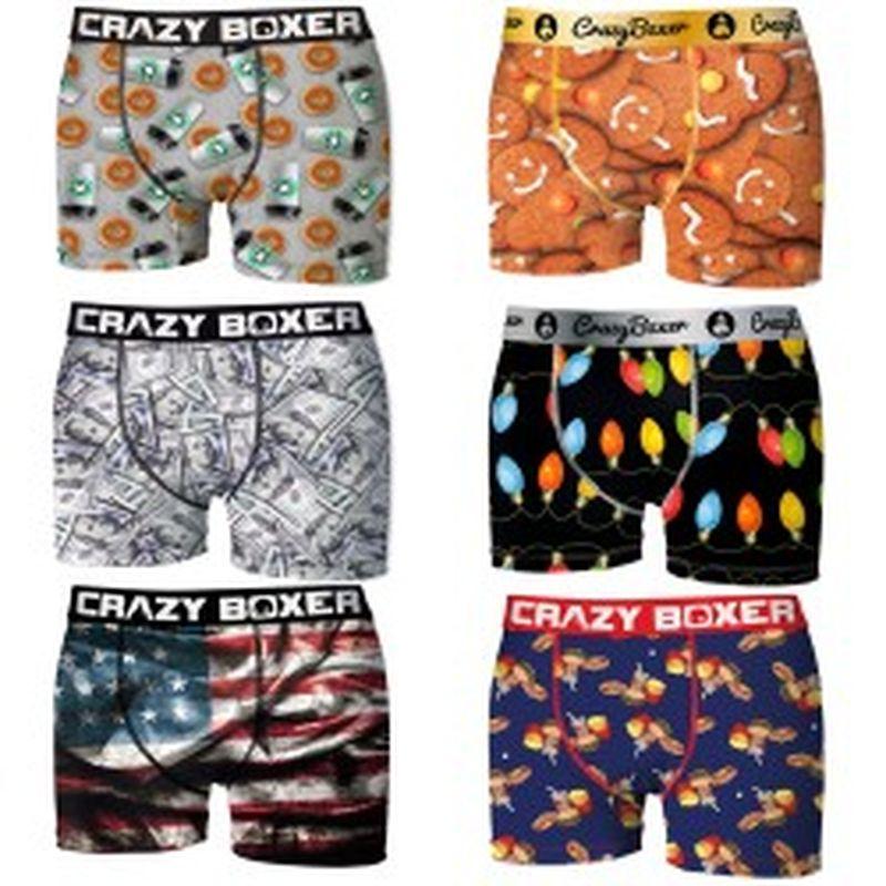 Pack 6pcs Surtido Crazy Boxer - Talla L