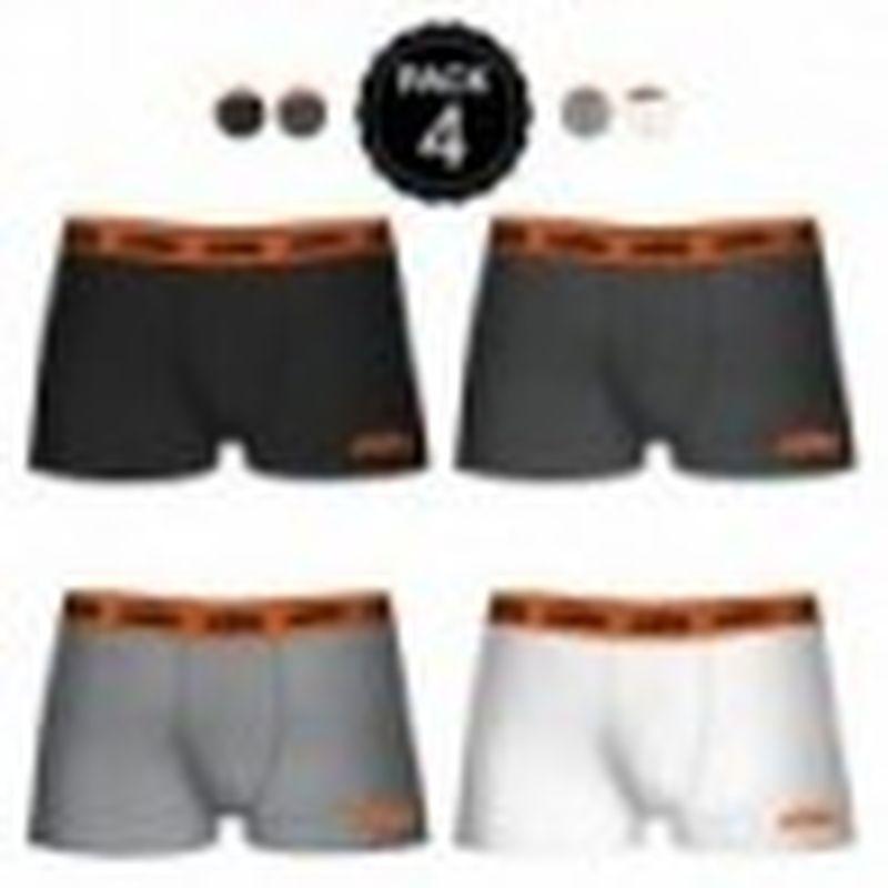 Set de 4 boxers KTM - colores surtidos - negro/gris oscuro/gris/blanco - Talla S