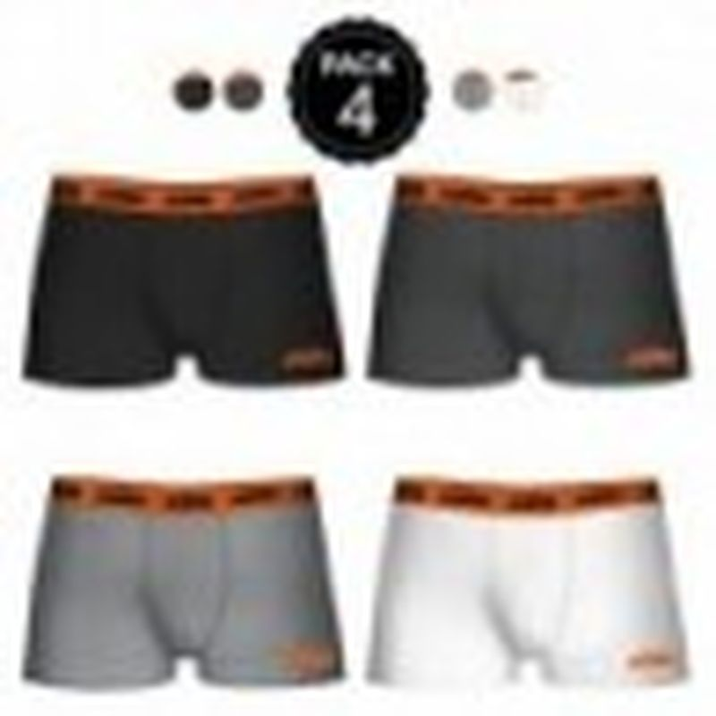 Set de 4 boxers KTM - colores surtidos - negro/gris oscuro/gris/blanco - Talla XXL