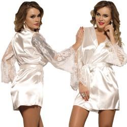 Bata Kimono Silk Satin Blanca