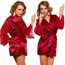 Bata Kimono Silk Satin Roja