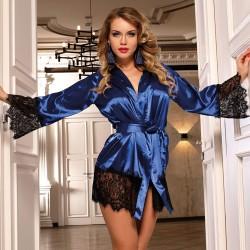 Bata Kimono Silk Justice Azul