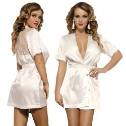 Bata Kimono Backless Blanca