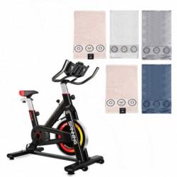 Bicicleta de Spinning y juego de cinco toallas (surtido)