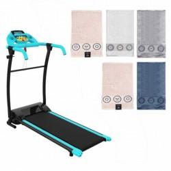 Maquina para running y juego de cinco toallas (surtido)