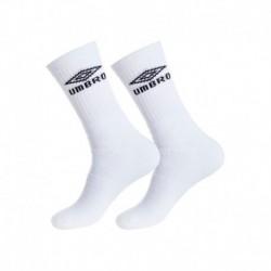 """Set 3P calcetines """"tenis"""" UMBRO blancos - talla 43/46"""