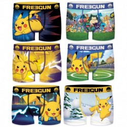 6/8 Pack 6pcs INFANTIL Surtido POKEMON FREEGUN - Talla 6/8