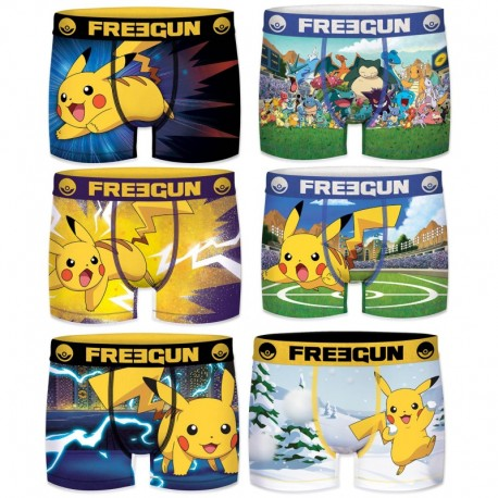14/16 Pack 6pcs INFANTIL Surtido POKEMON FREEGUN - Talla 14/16