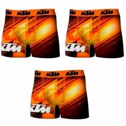 Set 3 Boxer KTM - microfibra (92% poliéster - 8% elastano) - multicolor