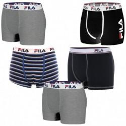 Talla L: Set 5 Boxer SURTIDOS marca FILA, multicolor, rayas y estampados