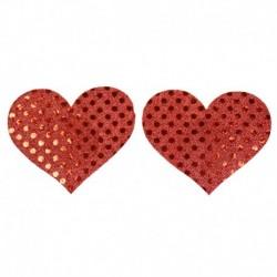 Pezoneras Shiny Heart Rojo
