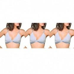 Talla L: Pack de 3 Top deportivo para mujer Gris - 95% algodón 5% elastano