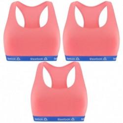 Talla M: Pack de 3 Top deportivo para mujer Rosa - 95% algodón 5% elastano