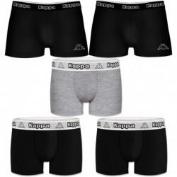 Talla M: Set 5pcs Boxers KAPPA - negro y multicolor - 95% algodón