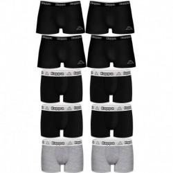 Talla L: Set 10pcs Boxers KAPPA - negro y multicolor - 95% algodón