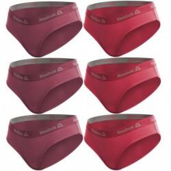 Talla M: Set de Set 6 culottes deportivos para mujer REEBOK - Rosa fuerte + Rosa - 95% algodón 5% elastano