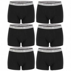Talla L: Pack de 6 boxers 95% algodón - Body: 3negro/3rojo